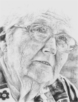 Old woman sketch