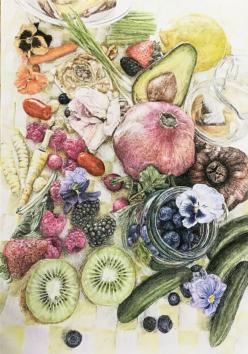 fruit and veg sketch