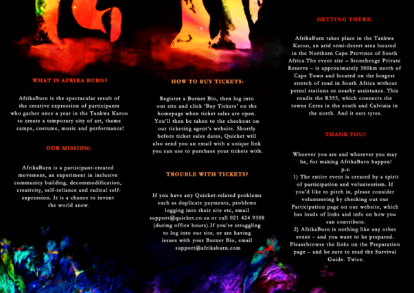 afrika burn brochure back