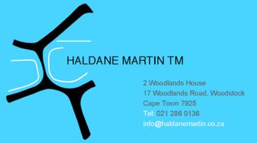 haldane business card back